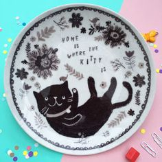 Decorative Cat Plate