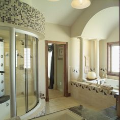 Unique tile designs and a curved freestanding shower! Plan 051S-0053 | House Plans and More