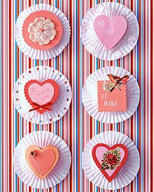 make valentine's using cupcake liners. love this.