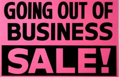 Going out of Business Window Signs Paper Black on Pink for sale online Black Church, Window Signs, Business Sales, 50 Off Sale, Going Out Of Business, For Sale Sign, Pure Romance, Discount Jewelry, Everything Must Go