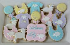 sheep baby shower cookies