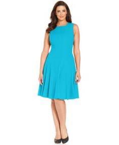 Calvin Klein Plus Size Pleated A-Line Dress  I did not know that it came in this color.  I own it in four other colors.  Might as well round out the collection.