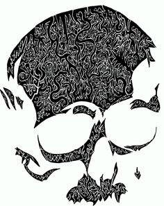 Yeah lame, pinning my own pictures, oh well I like it! Awesome skull stencil from #skulladay blog.