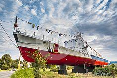 Photo about Constanta boat as landmark of the city on Aurel Vlaicu Boulevard in Constanta, Romania. Image of anchor, industry, flags - 33352623 Constanta Romania, Fair Grounds, Scene, Boat, Stock Photos, Explore, City, Travel, Image