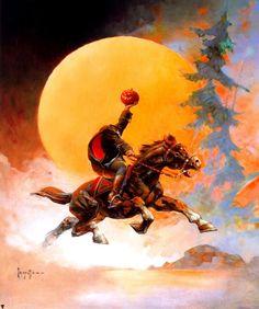 (via Fantasy Ink: The Headless Horseman) by Frank Frazetta, Frank Frazetta, Fantasy Artwork, Science Fiction, Jordi Bernet, Headless Horseman, Fantasy Illustration, Illustrations, Fantastic Art, Awesome