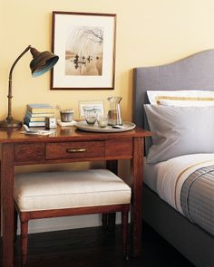 How to create a bedside work surface.