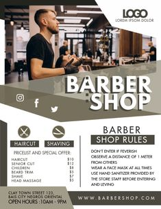 380+ Barber Customizable Design Templates | PosterMyWall Modern Barber Shop, Best Barber Shop, Barber Shop Decor, Small Salon Designs, Mens Hair Salon, Sunrise Wallpaper, Beard Trimming, Instagram Design, Professional Services