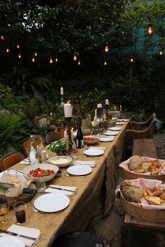 Rustic dining ~ ♥