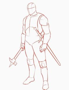 How to Draw a Templar Knight -Full Body – Improveyourdrawin… Body Base Drawing, Viking Drawings, Naruto Sketch Drawing, Knight Drawing, Comic Layout, Human Poses Reference, Poses References, Art Poses, Knights Templar