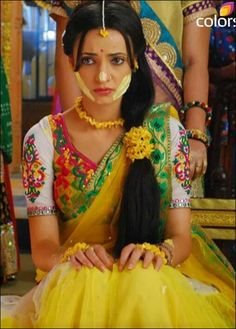 Paros, Arnav Singh Raizada, Haldi Ceremony, Popular Actresses, India Colors, Sanaya Irani, Desi Clothes, Indian Couture, Half Saree