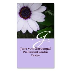 Purple Daisy Double-Sided Standard Business Cards (Pack Of 100). Make your own business card with this great design. All you need is to add your info to this template. Click the image to try it out!