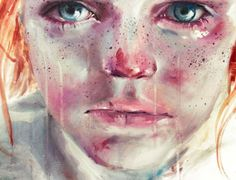 my eyes refuse to accept passive tears by Agnes-cecile (her name is actually Silvia Pelissero. Agnes-cecile is her internet moniker. She's super talented! Art And Illustration, Watercolor Portraits, Watercolor Paintings, Watercolors, Oil Paintings, Watercolor Eyes, Painting Art, Silvia Pelissero, Tears Art