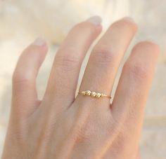 Minimalist handmade gold ring   14k gold filled wire by JulJewelry