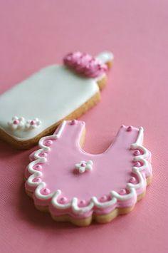 Baby Shower CookiesBaby Girl Cookie Favors by pinklittlecake, $33.00
