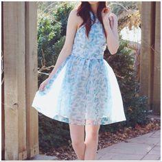 Disney Cinderella By Lc Blue Organza Party Dress