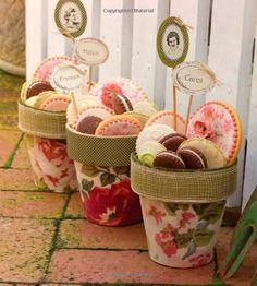 cookies in a flower pot