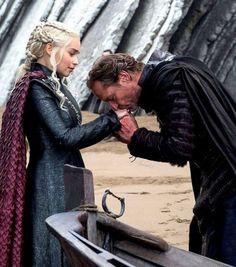 Daenerys & Jorah's farewell. (7x5) Game of Thrones.