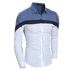 Cheap Casual Shirts, Buy Directly from China Suppliers:Men Shirt Long Sleeve 2016 Brand Shirts Men Casual Male Slim Fit Fashion Spell Color Chemise Mens Camisas Dress Shirts WSGYJ Slim Fit Dress Shirts, Fitted Dress Shirts, Dress Tops, Casual Shirts For Men, Men Casual, Camisa Slim, Estilo Cool, Fashion Casual, Fashion Trends