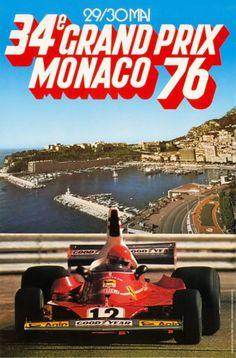 1976 Monaco Grand Prix -30 May 1976 - Winner Niki Lauda #Ferrari -Il circuito venne modificato alla Sainte Devote e all'ultima curva. Nel primo caso venne rallentata la velocità delle vetture con una curva più marcata verso sinistra.La Rascasse invece venne venne ingrandita e ritardata in modo da rendere più sicura l'entrata ai box.La gara è stata vinta da N.Lauda su Ferrari; per il vincitore si trattò dell'undicesimo successo nel mondiale,precedendo J.Scheckter e P.Depailler entrambi si…