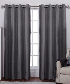 Another great find on #zulily! Black Pearl Raw Silk Window Panel - Set of Two #zulilyfinds