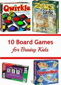 Games for Brainy Kids from Planet Smarty Pants - great game choices for a family game night!