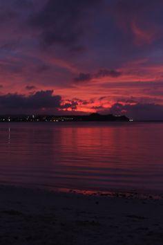 Sunset Tumon Bay Guam  2-14-2013