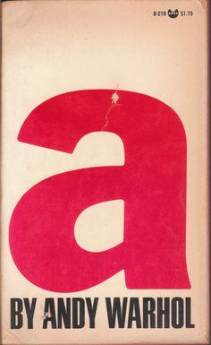 "adreciclarte: "" Andy Warhol - New York Grove Press, 1968 "" The Sorrows of Gin. Book Cover Design, Book Design, 2d Design, Type Design, Art Andy Warhol, Abc Letra, Pop Art, Arte Popular, Illustrations"