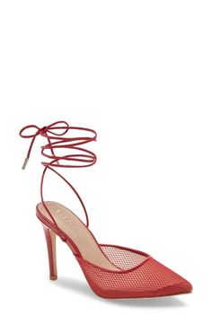 Women's Bcbgeneration Ankle Tie Pointed Toe Pump, Size 11 M - Red Women's Pumps, Pump Shoes, Women's Shoes, Pointed Toe Pumps, Stiletto Heels, Sky High, Bcbgeneration, Luxury Branding, Pumps