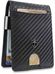 Money Clip Wallet HOUSTON Mens Wallet RFID Blocking Wallet | Minimalist Mini Slim Wallets Bifold for Men with Gift Box................... #menwallets #wallets #moneyclip #cardholder