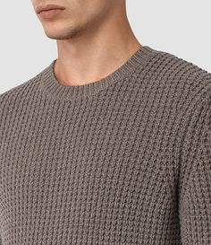 Mens Tornn Crew Sweater (Fawn Brown Marl) - product_image_alt_text_3