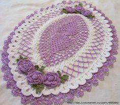 """Crochet: """"Beautiful napkin pad"""" - maomao - my heart action"""