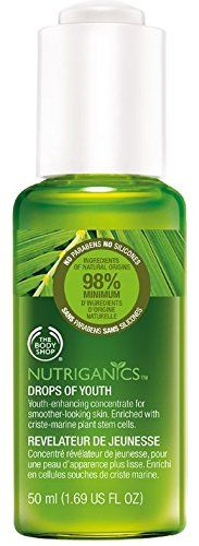 The Body Shop Nutriganics Drops of Youth 50ml/1.69oz ***NEW 50ml Size*** Anti-Ageing, proven to visibly improve the appearance of the skin, smoothing the first signs of ageing, helping to improve the confidence and self-esteem of women.