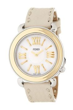 bbc81e229c7b Women s Selleria Leather Watch Fendi
