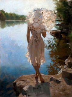 Женские образы в живописи Висенте Ромеро Редондо (39 картин)