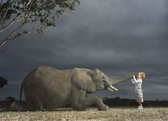 W/ elephant...I want a picture like this!