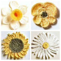 🌺 Amor - Perfeito Crochê com Flores  -  /  🌺 Crochet Hooks Pansies with Flowers -
