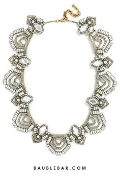 We can't get enough of the art deco details in this statement necklace from Olivia Palermo's collection.