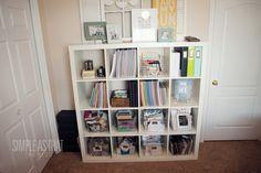 Rebecca Cooper's Expedit for craft organization