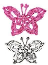 Resultado de imagen para crochet mariposas