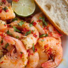 Yucatan Shrimp (Doc Ford's, Sanibel Island, FL) @keyingredient #shrimp #bread