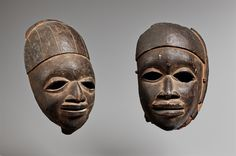 NigeriaTWO YORUBA EGUNGUN MASKS, Auction 1054 African and Oceanic Art, Lot 24