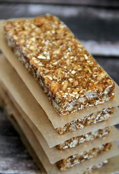 No Bake Pumpkin Spice Granola Bars