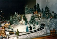 christmas village display mien