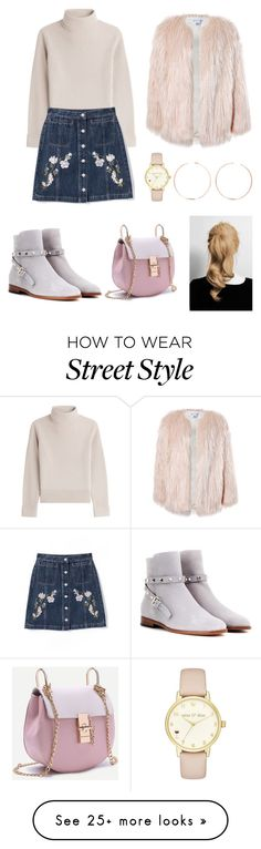 """Pretty Girl Street Style"" by bokye-354 on Polyvore featuring Vanessa Seward, Valentino, Sans Souci, Kate Spade and Anita Ko"