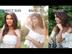 Natural Light Portraiture: Backlit, Shade and Direct Sun Photography - YouTube
