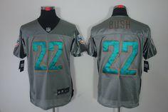Reggie Bush Elite Jersey: Nike NFL Shadow #22 Miami Dolphins Jersey In Grey