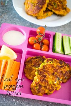 These delicious best ever pumpkin fritters are cheesy and super family friendly. Ideal as lunch, a dinner side or even a savoury breakfast. #kidgredients #snacks #freezerfriendly #fritters #pumpkinfritters #pumpkinrecipe #lunchboxrecipe