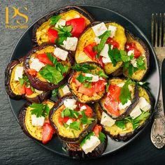 Gegrilde aubergine met geitenkaas en tomaat   Koolhydraatarme recepten PowerSlim fase 1