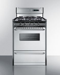 TTM63027BKSW - 24' wide gas range with sealed burners, stainless steel doors, and deluxe backguard; replaces TNM63027BFKWY