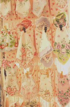 Beautiful vintage hankies...